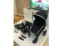 Pushchair and car seat and base