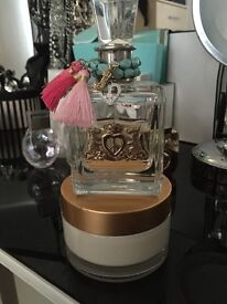 Peace, love and juicy couture perfume.