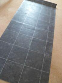 FREE Roll of Lino Grey/Black Granite Tile Design 77 x 34 inches from Bradford-on-Avon