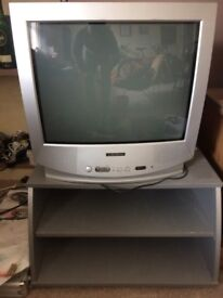 Colour 21'' inch TV Crown with remote and stand