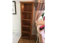 Solid oak corner 5 shelf unit
