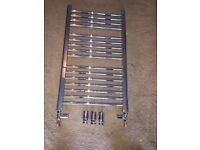 Crosco Towel Rail 500 x 862 Chrome Straight