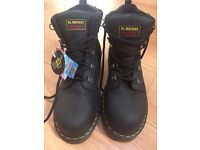 DR Martins steeltoe capped boots size 10