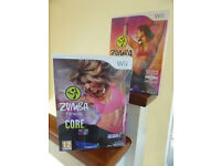 Wii ZUMBA fitness 'Join the Party' and 'Core' video games incl accessory belt - in sealed packaging.