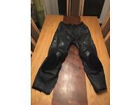 "IXS leather motorcycle trousers UK 36"" (EU size 52)"