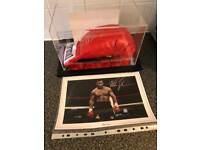 Mike Tyson signed glove with C.O.A and picture