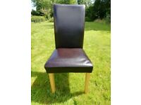 GONE, PENDING COLLECTION: Free - leather and hardwood dining chairs - FREE (4-6)