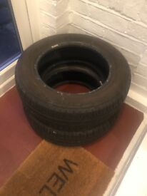 Two never used all purpose winter tyres