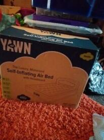 YAWN Air Bed Self-inflating Airbed Camping Mattress Blow Up Bed Built-in Pump