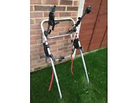 Bike rack suitable for holding 3 bikes and can be used on hatchbacks (formerly on golf)