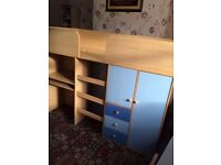 Brand new blue and oak colour cabin bed £200