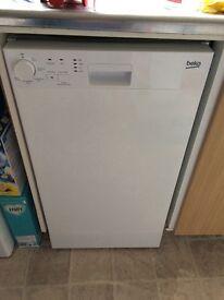 Slimline undercounter BEKO dishwasher
