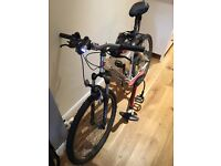 Mountain Bike - Saracen Rufftrax 2, barely used, with new helmet, tyre pump, front light...
