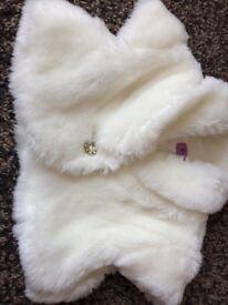 Age 2-3 white cardigan/shrug