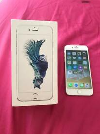 iPhone 6s 16GB White silver on Vodafone excellent condition .