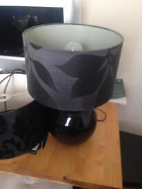 Black lamp and lampshade