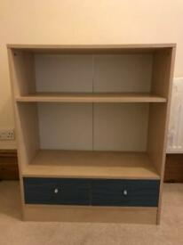 Children's bookcase with drawers