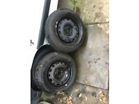 Two 175/65/14 tyres on rims like new