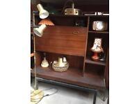 Vintage Retro G Plan Mid century 50s 60s wooden book case Storage Cabinet display unit