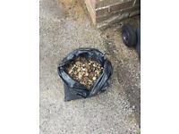 Garden shingle/small pebbles