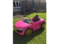 Pink Bling Audi R8 Spyder kids ride-on -excellent condition
