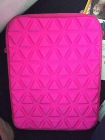 Pink iPad case