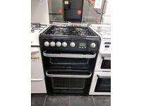 Black Hotpoint Gas Cooker (60cm) (6 Month Warranty)
