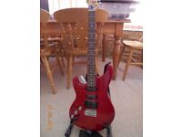 LEFT HANDED ASHTON ELECTRIC GUITAR IN EXCELLENT CONDITION