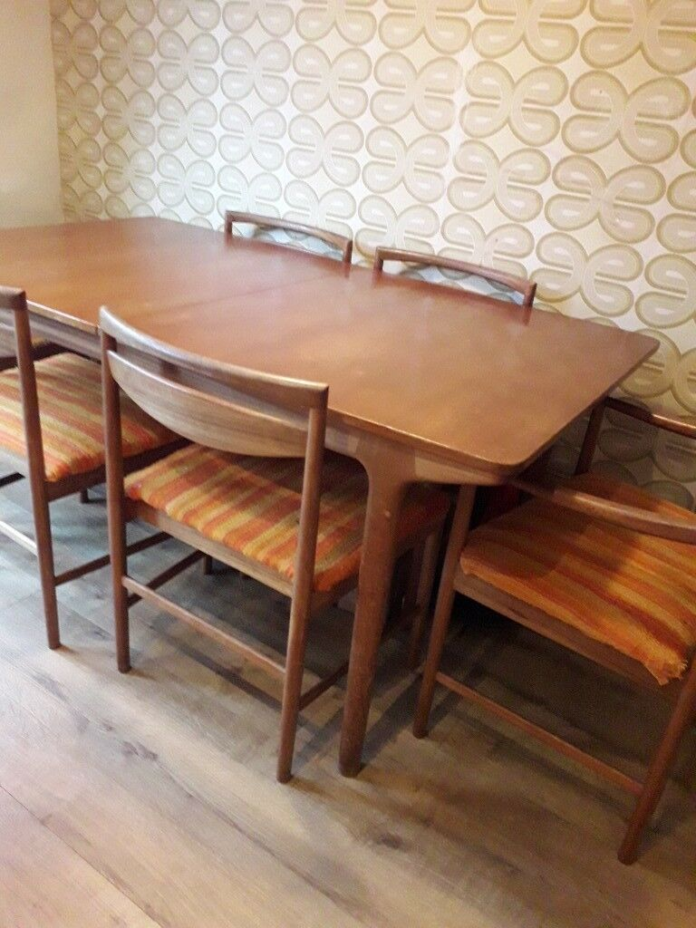 Mcintosh T3 Teak dining table and six chairs