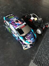 Ken Block RC Petrol Nitro Car Remote Control Nearly New
