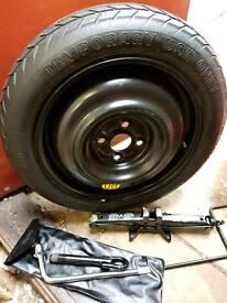Toyota yaris space saver wheel and jack set