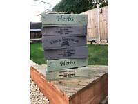 Rustic Herb box window box