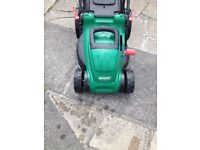 Qualcast electric mower with grass box