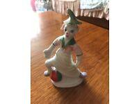 Porcelain clown statue figurine