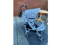 My babiiee grey star stroller