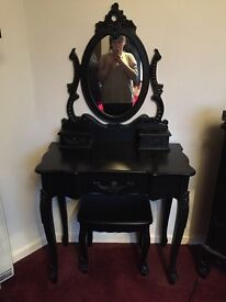 Black dressing table and stool from the Toulouse range at dunelm!!