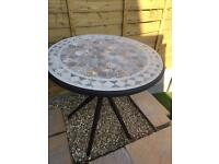 Mosaic steel bistro table