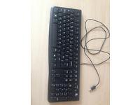 Black Logitech K120 wired USB Keyboard
