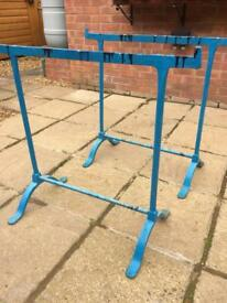 Vintage cast iron trestles (pair)