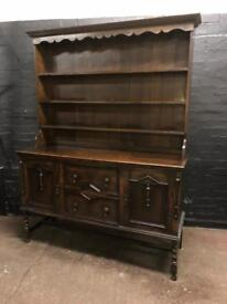 Fabulous Victorian large oak dresser in great condition .