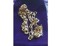 9ct GOLD CURB Link CHAIN MEN'S SOLID HEAVY 16g Necklace 375. 5mm