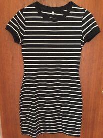Women's stripy bodycon dress UK S