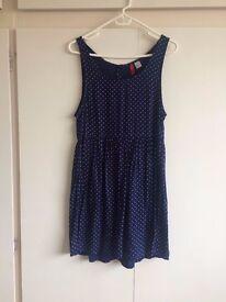 LADIES POLKA DOT H&M DRESS SIZE 8- £8