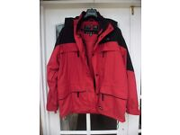 TRESPASS INTERACTIVE SKI JACKET. Size M. Red/Black