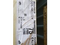 1 Sheet of Brand New 75mm Recticel/Celotex Insulation Boards 2.4mx1.2m