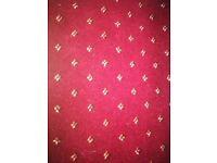 Red patterned carpet Axminster