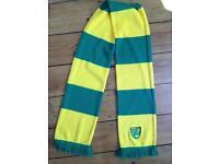 Norwich city football club scarf