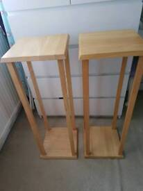 Love pair of plant/lamp tables