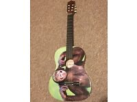 Classical Guitar with Chimp Print
