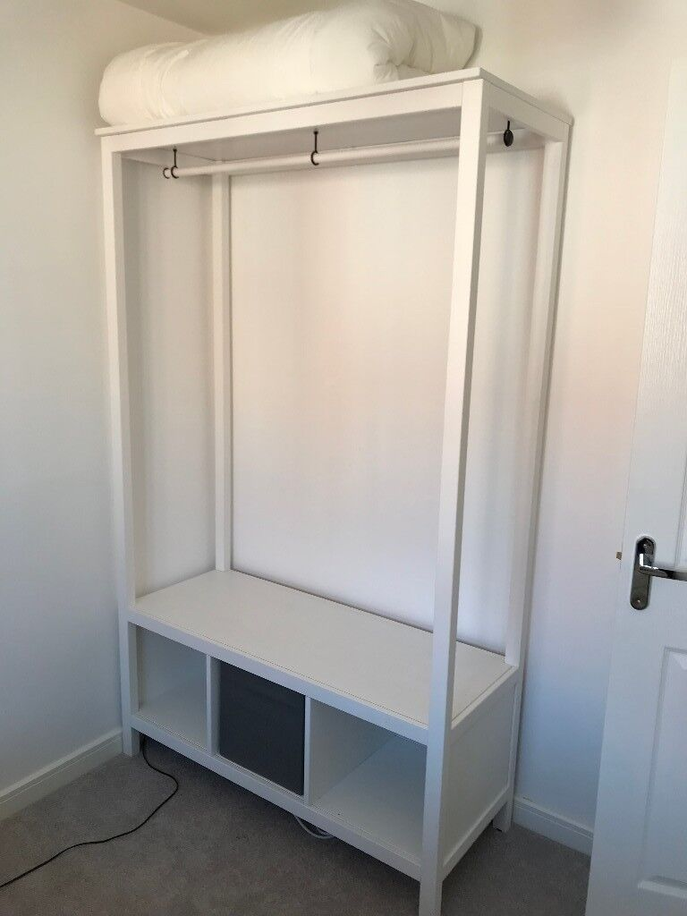 white ikea open wardrobe 3 months old in hucknall. Black Bedroom Furniture Sets. Home Design Ideas